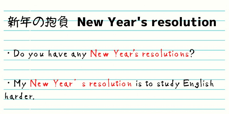 新年の抱負を英語で言うと?